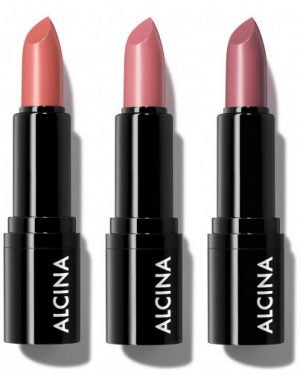 Radiant Lipstick rosy nude 01 taupe 02 peach 03 Alcina Schnittwerk Ginsheim