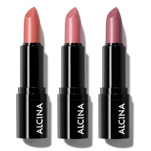 Radiant Lipstick rosy nude 01 taupe 02 peach 03 Alcina Schnittwerk Ginsheim